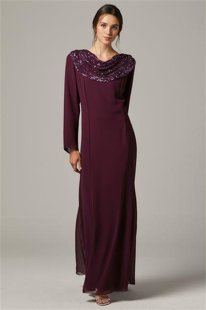 Evening Dress-Plum 1306-51