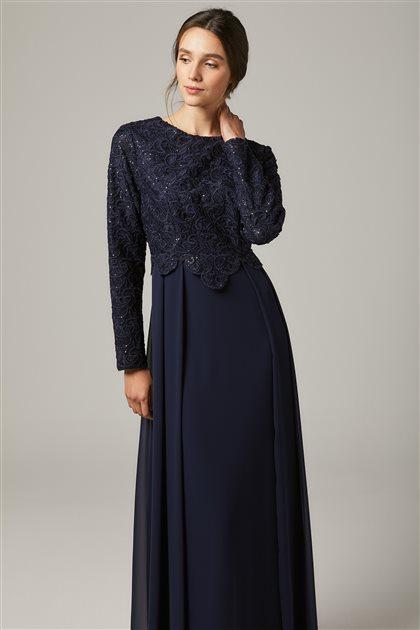 Evening Dress-Navy Blue 1309-17
