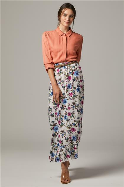 Skirt-White 2664F-02