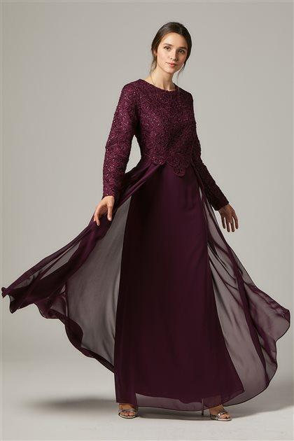 Evening Dress-Plum 1309-51