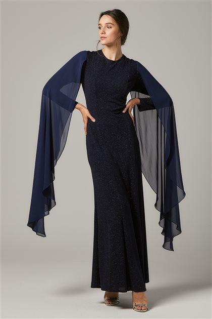 Evening Dress-Navy Blue 1311-17