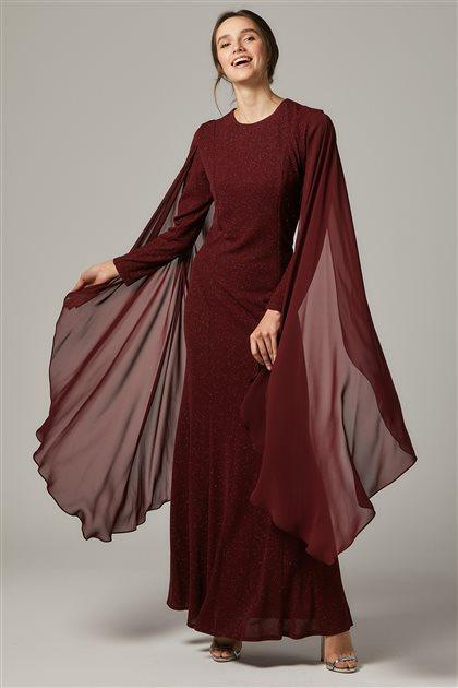 Evening Dress-Claret red 1311-67