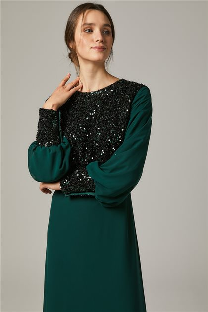 Evening Dress-Green1312-21