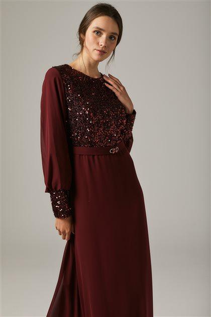 Evening Dress-Claret red 1312-67