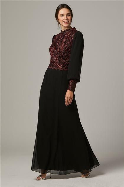 Evening Dress-Claret red 1313-67
