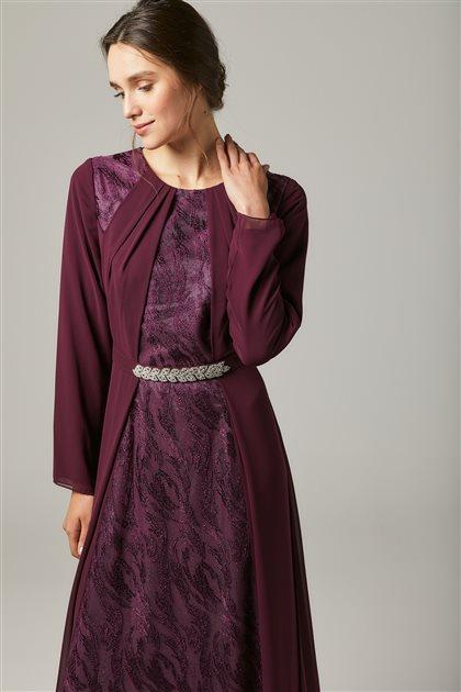 Evening Dress-Plum 1318-51