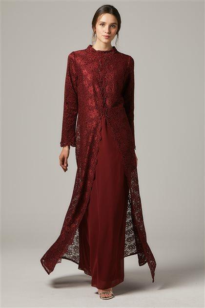 Evening Dress-Claret red 1319-67