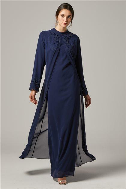 Evening Dress-Navy Blue 1325-17