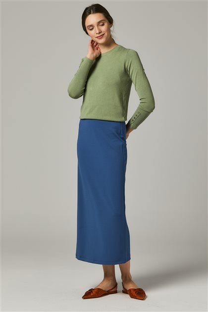 Skirt-İndigo MS651-39