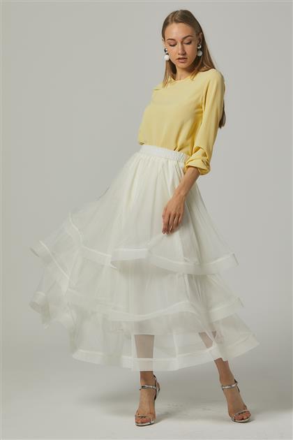 Skirt-Ecru MS146-35