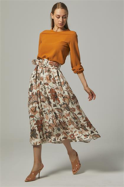 Skirt-Cream MS111-13