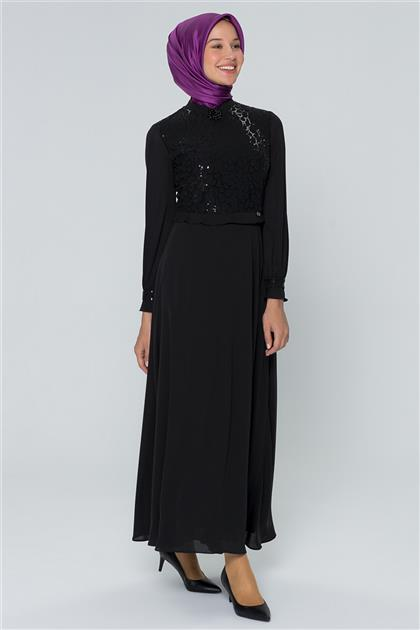 Armine Pulpayet Detaylı Elbise Siyah 20Y909