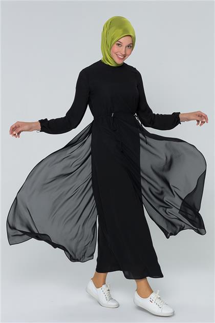 Armine Bağcık Detaylı Elbise Siyah 20Y9151