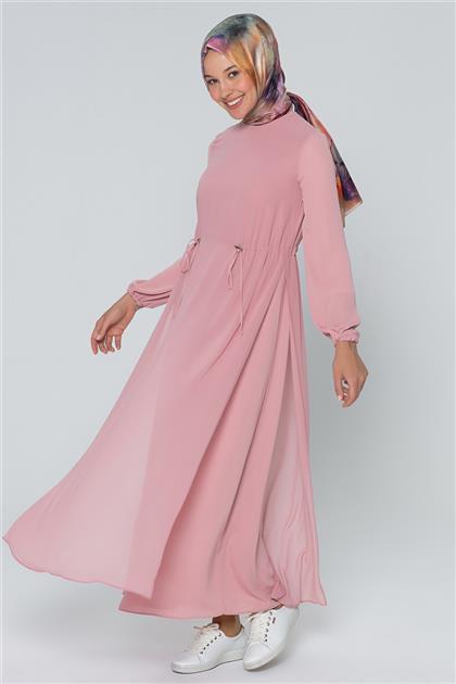 Armine Bağcık Detaylı Elbise Gül Kurusu 20Y9151