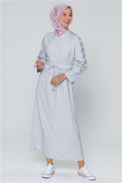 Armine Kemer Detaylı Elbise Gri 20Y9190