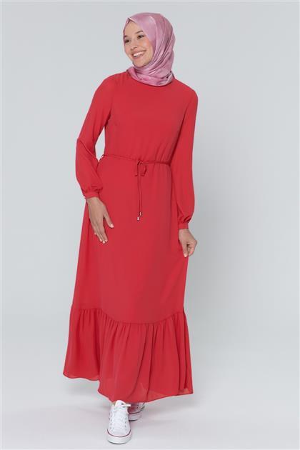 Armine Bağcık Bağlamalı Elbise Koyu Fuşya 20Y9155