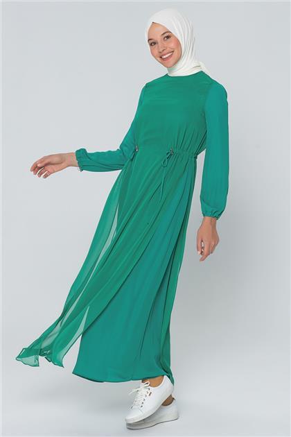 Armine Bağcık Detaylı Elbise Yeşil 20Y9151
