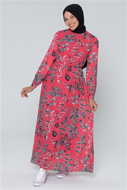 Armine Çiçek Desenli Elbise Kırmızı 20Y915