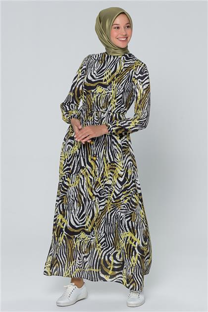 Armine Bağcık Bağlamalı Elbise Hardal 20Y920