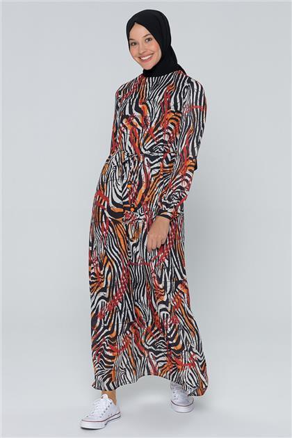 Armine Bağcık Bağlamalı Elbise Kiremit 20Y920