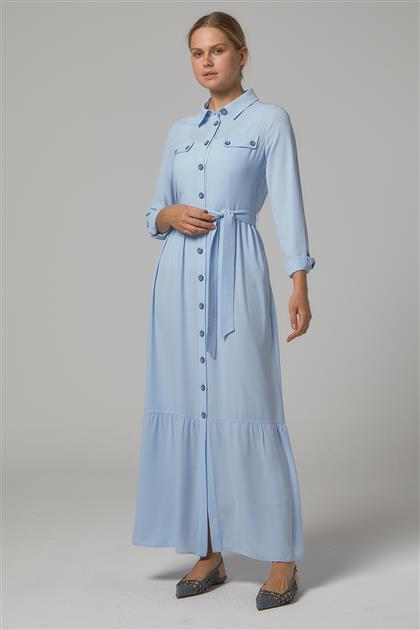 Elbise-Mavi DO-B20-63009-09