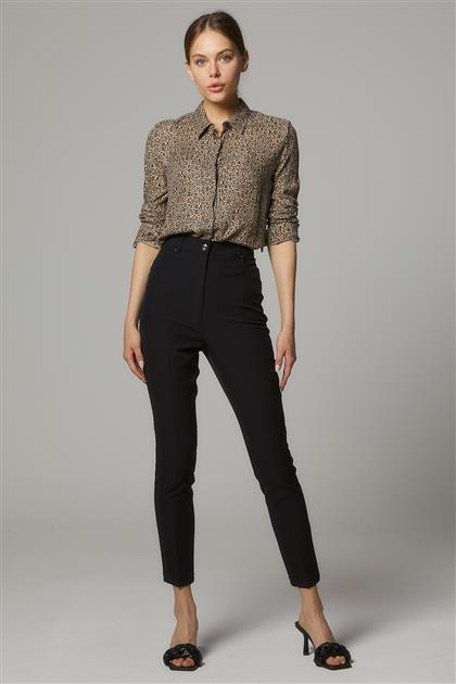 Taşlı Beş Cep Pantolon-Siyah SZ-5171-01