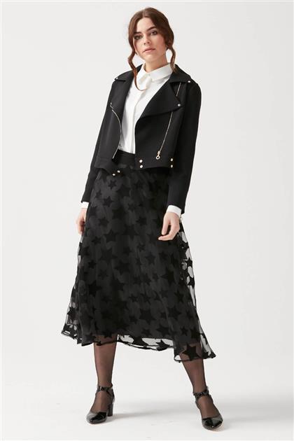 Fermuar Detaylı Ceket - Siyah V19YCKT14014
