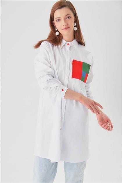 Poplin Beyaz Spor Tunik V20YGML22020