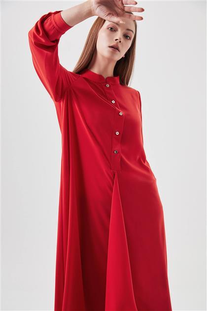 Hakim Yaka Salaş Kırmızı Tunik V19YTNK45080