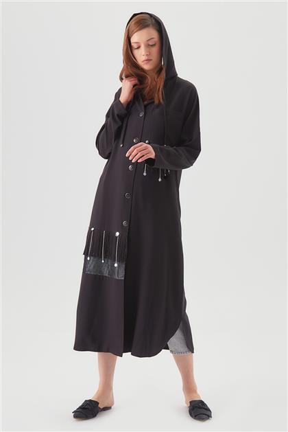 Aksesuar Detaylı Salaş Siyah Giy Çık 720YGCK65009
