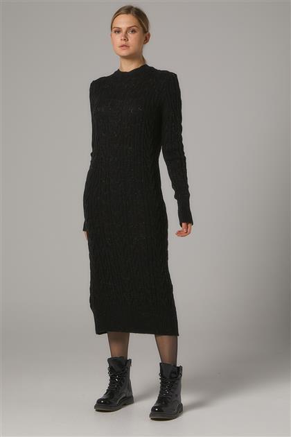 Tesettür Elbiseler-Siyah 2020-32-01