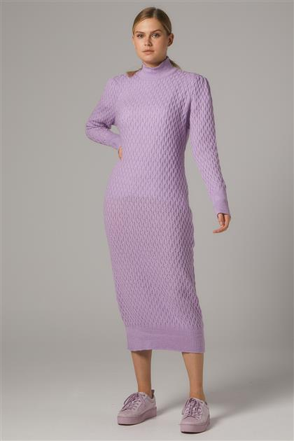 Tesettür Elbiseler-Lila 2020-31-49