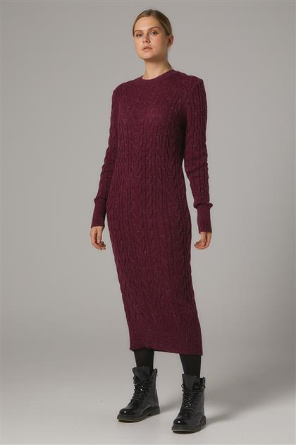 Tesettür Elbiseler-Bordo 2020-32-67