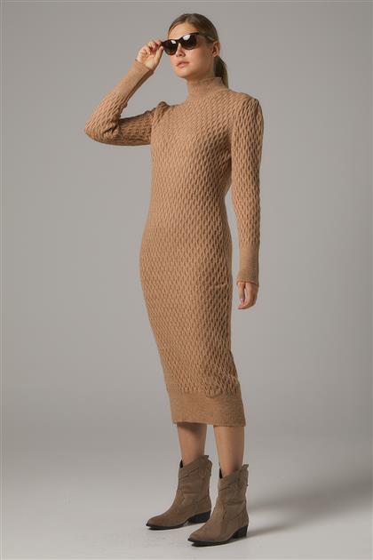 Tesettür Elbiseler-Bej 2020-31-11