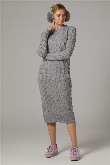 Tesettür Elbiseler-Gri 2020-32-04