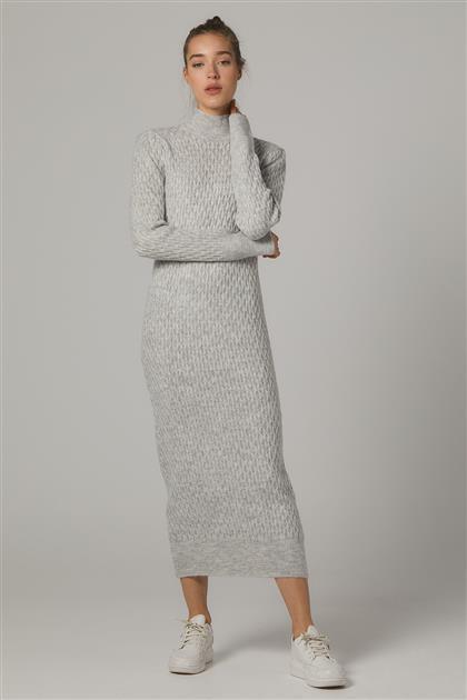 Tesettür Elbiseler-Gri 2020-31-04