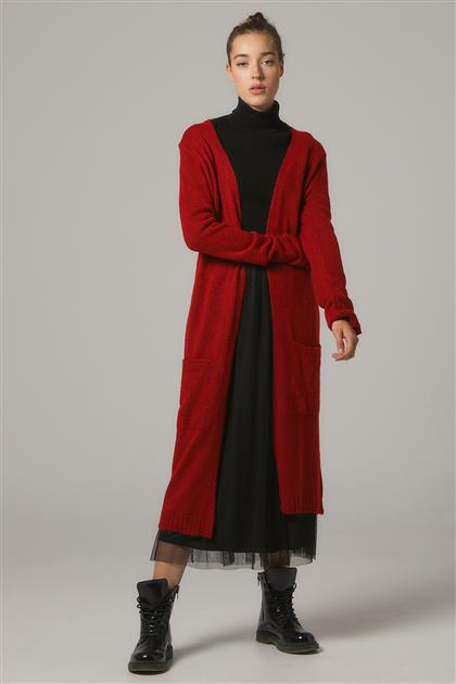 Cardigan-Red 2067-34