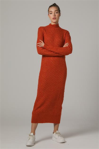 Tesettür Elbiseler-Orange 2020-31-78
