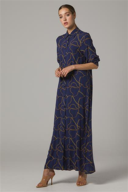 Elbise-Lacivert 20Y1006-17