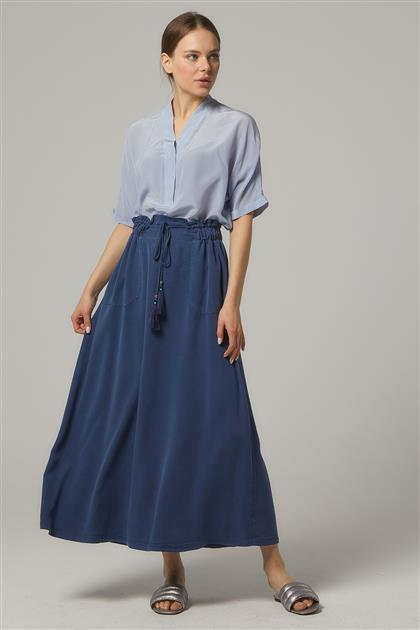 Skirt-Navy Blue KA-B20-12055-11