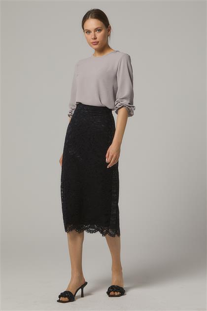 Skirt-Black KA-B20-12042-12