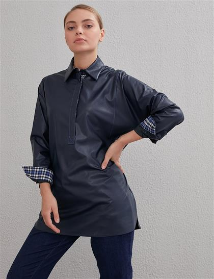 Blouse-Navy Blue KA-A20-11007-11