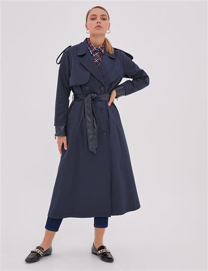 Trench Coat Navy Blue A20 14007