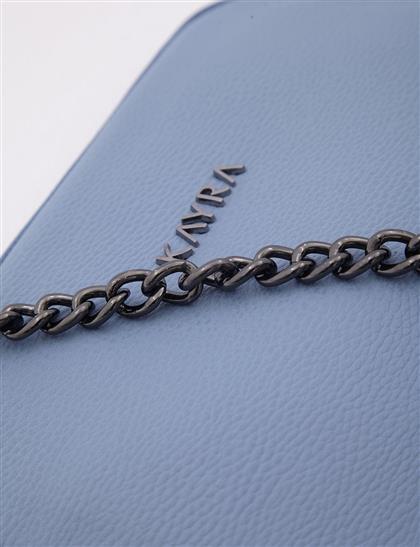 Zincir Askılı Suni Deri Çanta Mavi A20 CNT15