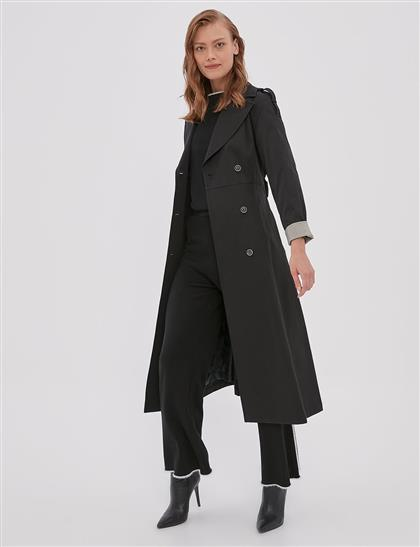 Trench Coat Black A20 14026