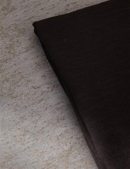 Düz Renk Keten Şal Siyah A20 SAL33