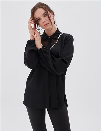 Blouse-Black KA-A20-10012-12