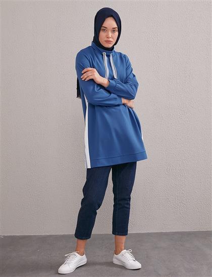 KYR Şerit Detaylı Sweatshirt Bej A20 81004