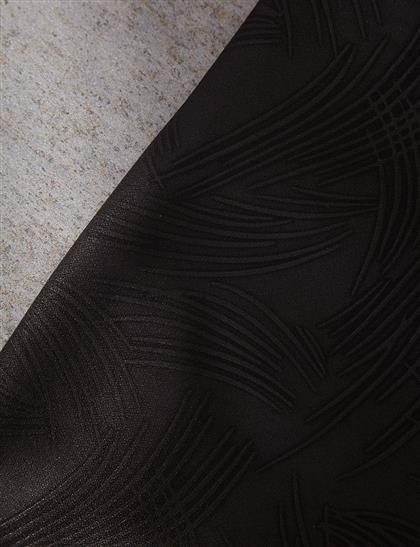 Kabartma Desenli Şal Siyah A20 SAL40