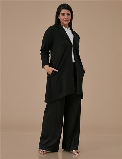 Işıltılı Kumaşlı Ceket Siyah A9 13068
